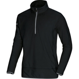 jako 7711 08 Fleece Ziptop Team schwarz/grau