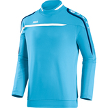 jako 8897 45 Sweat Performance aqua/weiß/marine